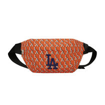 [ MLB ] Monogram Hip Sack LA Dodgers ボディバッグ (Orange)