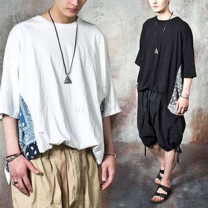 Tシャツ・カットソー 【関税・送料込】Paisley pattern over-sized ethnic t-shirts