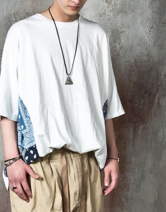 Tシャツ・カットソー 【関税・送料込】Paisley pattern over-sized ethnic t-shirts(2)