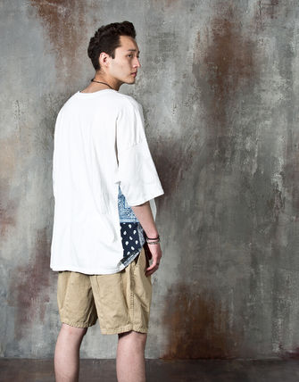 Tシャツ・カットソー 【関税・送料込】Paisley pattern over-sized ethnic t-shirts(6)