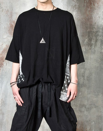 Tシャツ・カットソー 【関税・送料込】Paisley pattern over-sized ethnic t-shirts(8)