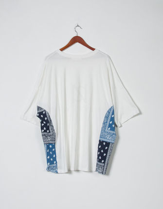 Tシャツ・カットソー 【関税・送料込】Paisley pattern over-sized ethnic t-shirts(13)
