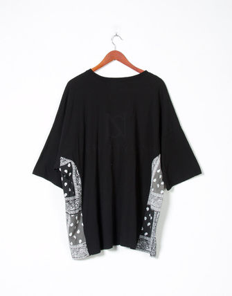 Tシャツ・カットソー 【関税・送料込】Paisley pattern over-sized ethnic t-shirts(17)