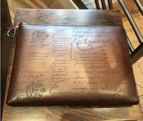 Nino Large Scritto Leather Clutch