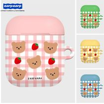 earpearp(オプオプ)★韓国★Dot strawberry check Air pods case