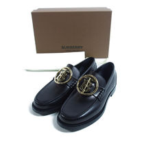 BURBERRY::BRUSHED CALF LOAFERS:41[RESALE]