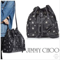 VIP SALE!!【Jimmy Choo】JUNO★BUCKET 巾着★スタッズ★可愛い