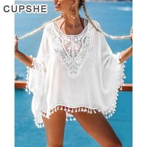 ★CUPSHE★ WHITE BOHO COVER UP WITH TASSEL TRIM