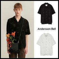 ☆ANDERSSON BELL☆ ANDREA COTTON OPEN COLLAR SHIRT