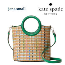 Kate Spade◆jena straw small tote  2way かごトート
