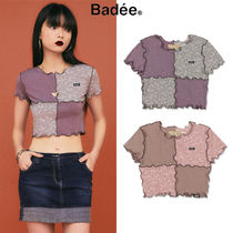 [BADEE] TWO TONE LETTUCE EDGE CROP TOP 2COLOR 韓国ブランド