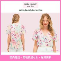 【kate spade】フラワープリント♪painted petals burnout top