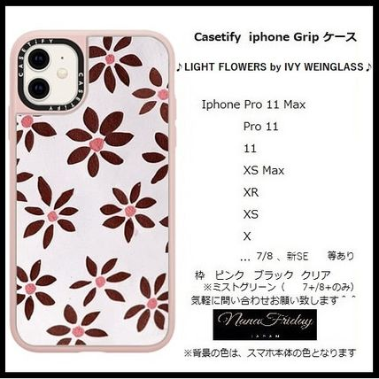 Casetify スマホケース・テックアクセサリー Casetify iphone Grip case♪LIGHT FLOWERS by IVY WEINGLASS♪
