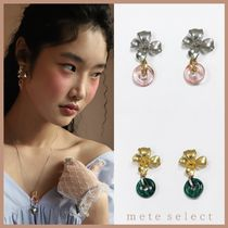 August Harmony Blooming flower drop earring ピアス 真鍮