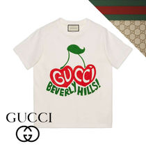 """20SS【グッチ】Gucci """"BEVERLY HILLS""""チェリープリントTシャツ"""