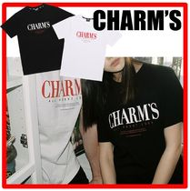 Charm's(チャームス) Tシャツ・カットソー ☆韓国の人気☆【CHARM'S】☆CHARMS Gotic Lettering T shirts☆