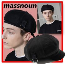 ★韓国の人気★MASSNOUN★CI LOGO D-RING NEWSBOY CAP★