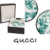 GUCCI(グッチ) 食器(皿) 【国内発送】GUCCI グッチ デザートプレートセット 白&緑
