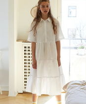 """MONKI"" Flounce dress White"