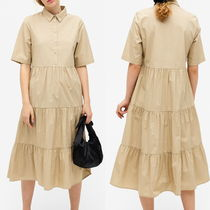 """MONKI"" Flounce dress Beige"