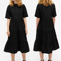 """MONKI"" Flounce dress Black"