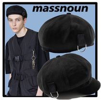☆送料・関税込☆MASSNOUN★CI LOGO D-RING NEWSBOY CAP★