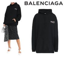 BALENCIAGA☆Oversized printed French cotton-terry hoodie