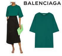 BALENCIAGA☆Oversized embroidered cotton-jersey T-shirt