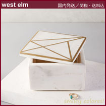 【west elm】◇Brass Inlay 大理石ボックス_正方形