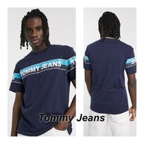 Tommy Jeans ダブルストライプクロス ロゴTシャツ