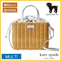 【Kate Spade】sam wicker lemon 2wayかごバッグ◆国内発送◆