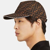 【国内発送】FENDI キャップ Logo-Jacquard Coated-Canvas Cap