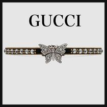 ★GUCCI★Crystal studded butterfly choker☆