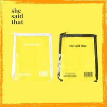 she said that(シーセッドザット) ポーチ 【全2色】she said that★クリアポーチ★pvc pouch