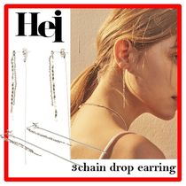 ☆☆韓国の人気☆Hei☆3chain drop earring☆☆