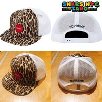Supreme SS20 Week5 / Leopard Mesh Back 5-Panel / White 豹柄
