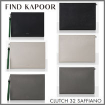 FIND KAPOOR(ファインドカプール) クラッチバッグ 【FIND KAPOOR】新商品●Clutch 32 Saffiano クラッチ3色