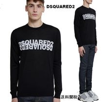 【DSQUARED2 Logo Knit Sweater】 Mirroredロゴニットセーター