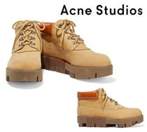 Acne Studios☆Tinne patent leather nubuck ankle boots
