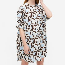 """MONKI"" Oversized shirt dress Leopard spots"