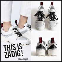 Zadig and Voltaire★BLAZE METALLIC ロゴ入り靴紐 スニーカー