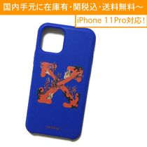 OFF-WHITE CORALS PRINT BLUE iPhone case