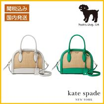 【Kate Spade】reiley straw medium 2wayかごバッグ◆国内発送◆