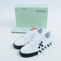 Off-White:: ARROW LOGO LEATHER VULC SNEAKERS:40[RESALE]