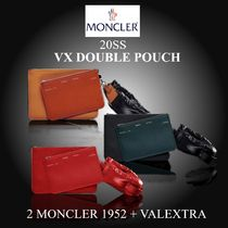 20SS完売必至★2MONCLER 1952+VALEXTRA★VX DOUBLE POUCH ポーチ