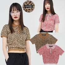 ★SCULPTOR★日本未入荷 韓国 カットソー Leopard Polo Knit top