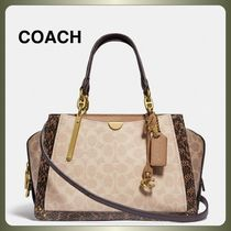 【COACH】Dreamer In Signature Canvas With Snakeskin Detail