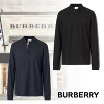 BURBERRY バーバリー Long-sleeve Monogram Motif ポロシャツ 綿