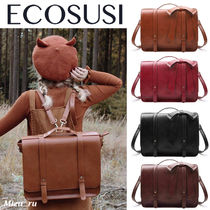 ☆ECOSUSI☆ WOMEN'S PU DETACHABLE BOW BRIEFCASE