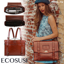 ☆ECOSUSI☆ WOMEN'S PU STYLISH CAMBRIDGE BACKPACK
